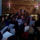 Colindatori in biserica Soborul Maicii Domnului
